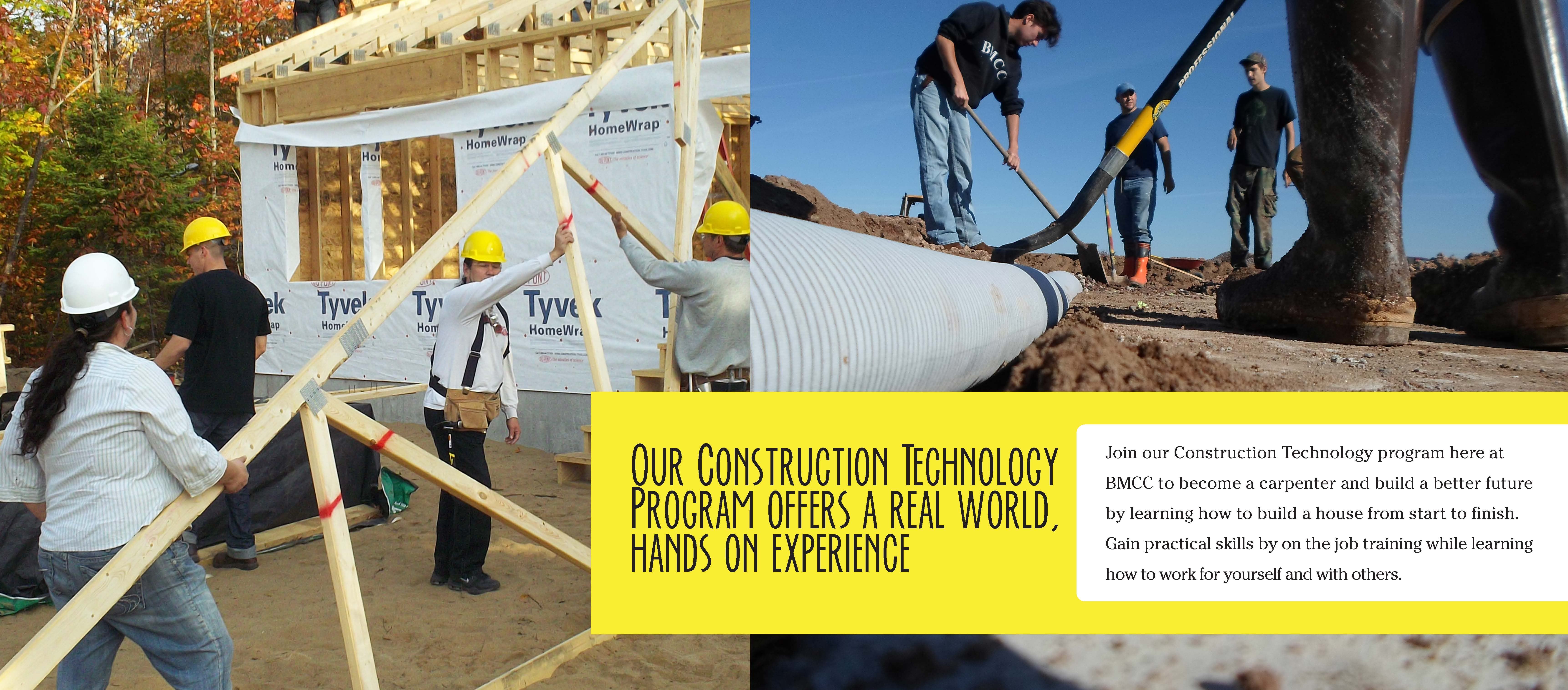 Construction Technology Program rotating graphic